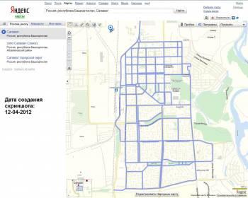 Скриншот интерфейса «Яндекс.Панорам» для города Салавата